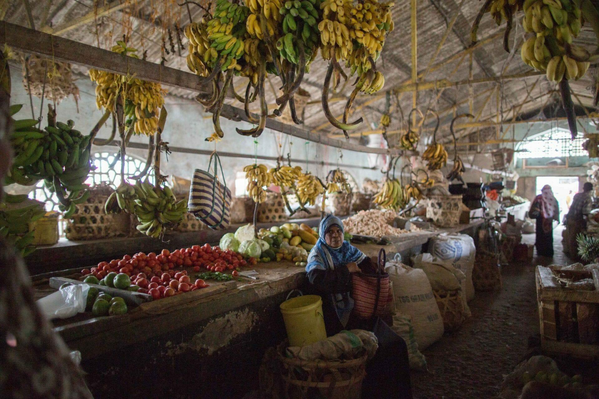 Vegetable market in Wete, Pemba