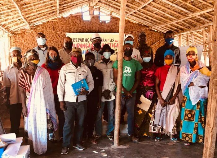 Community meeting in Sambene, Mozambique